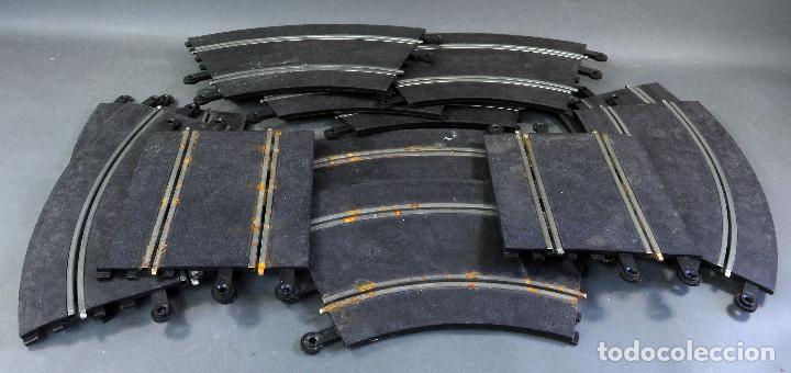 12 TRAMOS PISTAS SCALEXTRIC EXIN TRIANG 10 CURVAS Y 2 RECTAS AÑOS 70 (Juguetes - Slot Cars - Scalextric Pistas y Accesorios)