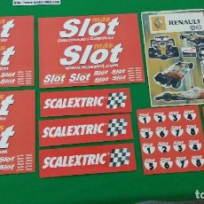 Scalextric: PEGATINAS MAS SLOT – SCALEXTRIC – RENAULT. Lote 129584647