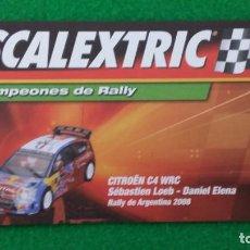Scalextric: SCALEXTRIC CAMPEONES DE RALLY – CERTIFICADO EDICIÓN LIMITADA CITROEN C4 – ALTAYA. Lote 130963000