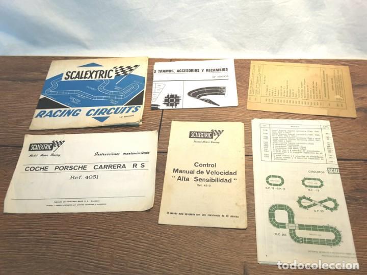 LOTE FOLLETOS DE SCALEXTRIC, AÑOS 70-80 (Juguetes - Slot Cars - Scalextric Pistas y Accesorios)