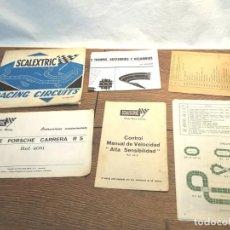 Scalextric: LOTE FOLLETOS DE SCALEXTRIC, AÑOS 70-80. Lote 131618786