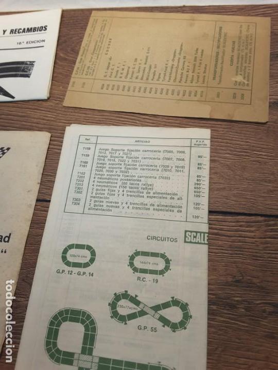 Scalextric: Lote folletos de Scalextric, años 70-80 - Foto 3 - 131618786