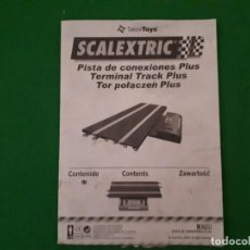 Scalextric: INSTRUCCIONES SCALEXTRIC PISTA DE CONEXIONES PLUS. Lote 210986417