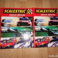Scalextric: SCALEXTRIC DUELOS MITICOS - ARCHIVADORES 1 Y 2 / COMPLETOS 55 FASCICULOS - ALTAYA. Lote 133239478