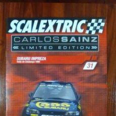 Scalextric: SCALEXTRIC - COLECCIONABLE ALTAYA - CARLOS SAINZ - NUMERO 31 - SUBARU IMPREZA. Lote 133808070
