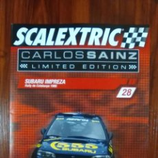 Scalextric: SCALEXTRIC - COLECCIONABLE ALTAYA - CARLOS SAINZ - NUMERO 28 - SUBARU IMPREZA. Lote 133808342