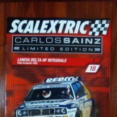 Scalextric: SCALEXTRIC - COLECCIONABLE ALTAYA - CARLOS SAINZ - NUMERO 18 - LANCIA DELTA HF INTEGRALE. Lote 133809510