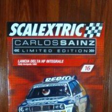 Scalextric: SCALEXTRIC - COLECCIONABLE ALTAYA - CARLOS SAINZ - NUMERO 16 - LANCIA DELTA HF INTEGRALE. Lote 133813246