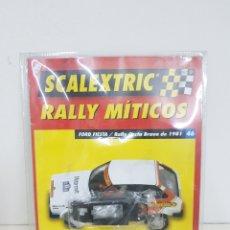 Scalextric: SCALEXTRIC RALLY MÍTICOS FORD FIESTA RALLY COSTA BRAVA DE 1981 FASCÍCULO 46 FONDO PLANO DEL COCHE. Lote 133914195