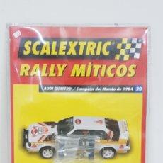 Scalextric: SCALEXTRIC RALLYES MÍTICOS AUDI A4 CAMPEÓN DEL MUNDO DE 1984 ARTÍCULO 20 EJES DE RUEDAS. Lote 133914270