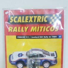 Scalextric: SCALEXTRIC RALLY MÍTICOS PORSCHE 911 LOMBARD RACC RALLY DE 1984 FASCÍCULO 4 RUEDA Y ESCOBILLAS. Lote 133914381
