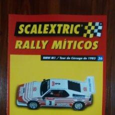 Scalextric: SCALEXTRIC - RALLY MITICOS - COLECCION ALTAYA - BMW M1 - NUMERO 36. Lote 134084562