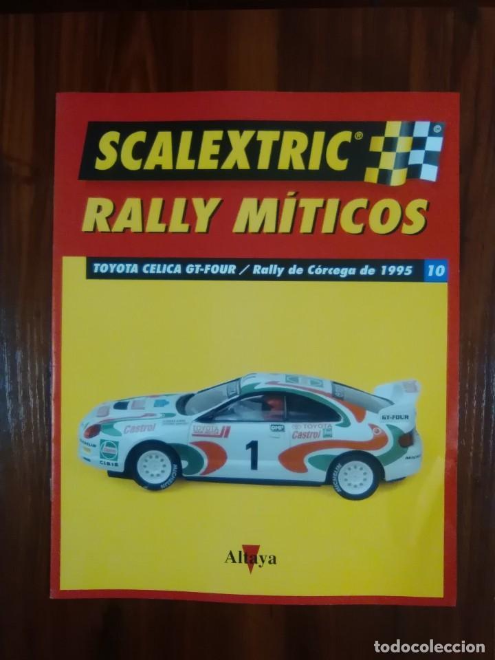 SCALEXTRIC - RALLY MITICOS - COLECCION ALTAYA - TOYOTA CELICA GT-FOUR - NUMERO 10 (Juguetes - Slot Cars - Scalextric Pistas y Accesorios)