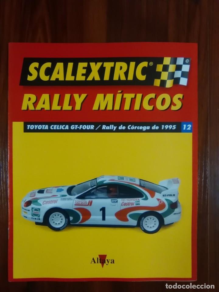 SCALEXTRIC - RALLY MITICOS - COLECCION ALTAYA - TOYOTA CELICA GT-FOUR - NUMERO 12 (Juguetes - Slot Cars - Scalextric Pistas y Accesorios)