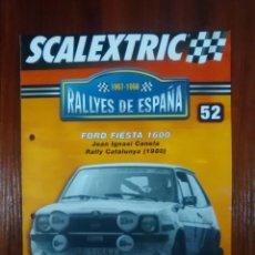 Scalextric: SCALEXTRIC - RALLYES DE ESPAÑA - COLECCION ALTAYA - NUMERO 52 - FORD FIESTA 1600. Lote 134278865