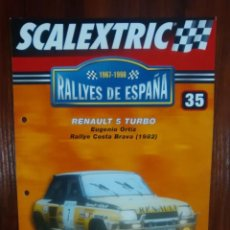 Scalextric: SCALEXTRIC - RALLYES DE ESPAÑA - COLECCION ALTAYA - NUMERO 35 - RENAULT 5 TURBO. Lote 177969449