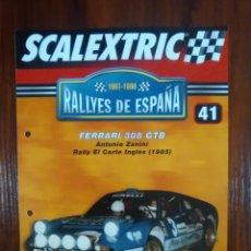 Scalextric: SCALEXTRIC - RALLYES DE ESPAÑA - COLECCION ALTAYA - NUMERO 41 - FERRARI 308 GTB. Lote 163370286