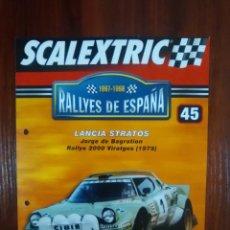 Scalextric: SCALEXTRIC - RALLYES DE ESPAÑA - COLECCION ALTAYA - NUMERO 45 - LANCIA STRATOS. Lote 134398850