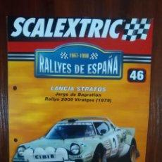 Scalextric: SCALEXTRIC - RALLYES DE ESPAÑA - COLECCION ALTAYA - NUMERO 46 - LANCIA STRATOS. Lote 134398958