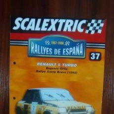 Scalextric: SCALEXTRIC - RALLYES DE ESPAÑA - COLECCION ALTAYA - NUMERO 37 - RENAULT 5 TURBO. Lote 177969430
