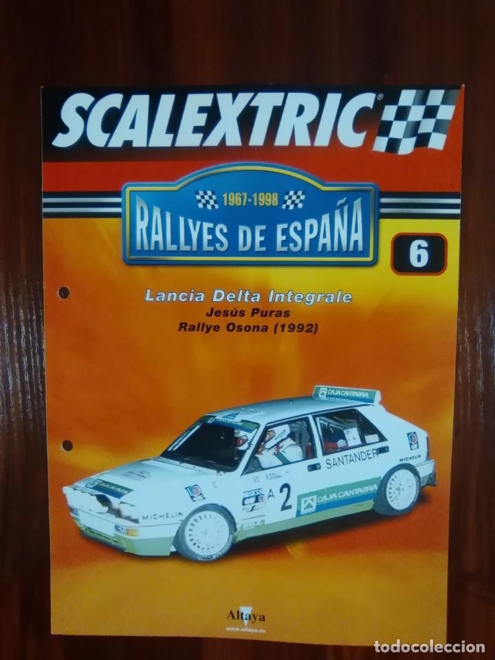 SCALEXTRIC - RALLYES DE ESPAÑA - COLECCION ALTAYA - NUMERO 6 - LANCIA DELTA INTEGRALE (Juguetes - Slot Cars - Scalextric Pistas y Accesorios)