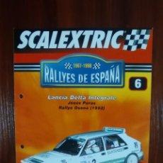 Scalextric: SCALEXTRIC - RALLYES DE ESPAÑA - COLECCION ALTAYA - NUMERO 6 - LANCIA DELTA INTEGRALE. Lote 134401226