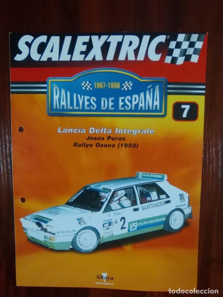 SCALEXTRIC - RALLYES DE ESPAÑA - COLECCION ALTAYA - NUMERO 7 - LANCIA DELTA INTEGRALE (Juguetes - Slot Cars - Scalextric Pistas y Accesorios)