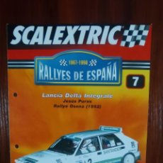Scalextric: SCALEXTRIC - RALLYES DE ESPAÑA - COLECCION ALTAYA - NUMERO 7 - LANCIA DELTA INTEGRALE. Lote 134401338
