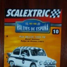 Scalextric: SCALEXTRIC - RALLYES DE ESPAÑA - COLECCION ALTAYA - NUMERO 10 - FIAT ABARTH 1000 TC. Lote 134401754