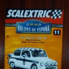 Scalextric: SCALEXTRIC - RALLYES DE ESPAÑA - COLECCION ALTAYA - NUMERO 11 - FIAT ABARTH 1000 TC. Lote 134401842