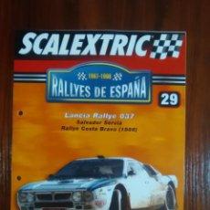 Scalextric: SCALEXTRIC - COLECCION ALTAYA - RALLYES DE ESPAÑA - NUMERO 29 - LANCIA RALLYE 037. Lote 134837090