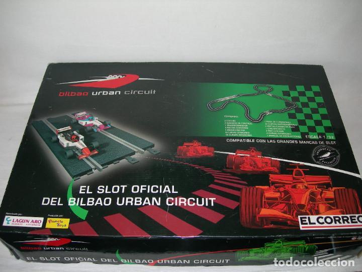 EXCLUSIVO CIRCUITO SLOT BILBAO URBAN CIRCUIT SIMILAR A SCALEXTRIC - COMPLETO Y PRÁCTICAMENTE NUEVO - (Juguetes - Slot Cars - Scalextric Pistas y Accesorios)