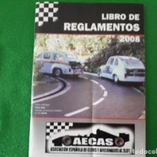 Scalextric: LIBRO DE REGLAMENTOS 2008 AECAS. Lote 135330978