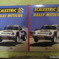 Scalextric: LOS DOS TOMOS SCALEXTRIC RALLY MÍTICOS ALTAYA. Lote 135506858