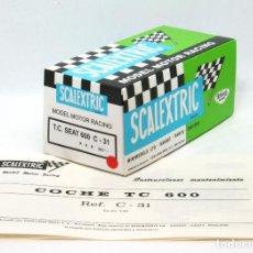 Scalextric: CAJA REPRO SCALEXTRIC EXIN TRIANG TC SEAT 600 CON INSTRUCCIONES Y ETIQUETA. Lote 156514578