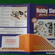 Scalextric: FLYERS / FOLLETO HOBBY SLOT RACING. RECAMBIOS PARA COMPETICIÓN. Lote 136198046