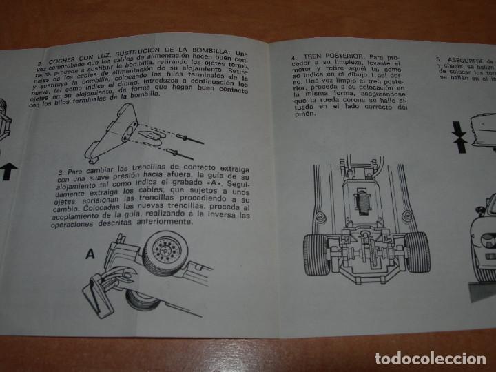 Scalextric: INSTRUCCIONES DE MANTENIMIENTO DEL COCHE LANCIA 037 DE SCALEXTRIC - 100% ORIGINAL EXIN - - Foto 2 - 137888606