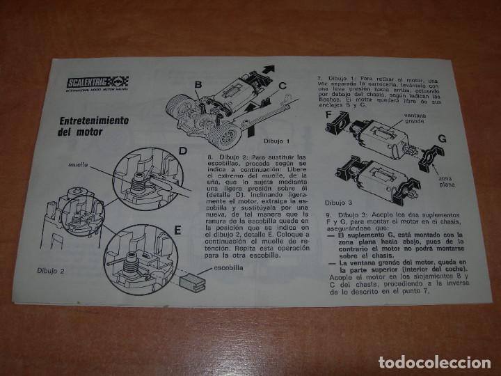 Scalextric: INSTRUCCIONES DE MANTENIMIENTO DEL COCHE LANCIA 037 DE SCALEXTRIC - 100% ORIGINAL EXIN - - Foto 3 - 137888606