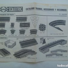 Scalextric: SCALEXTRIC : CATALOGO DE TRAMOS , ACCESORIOS Y RECAMBIOS . 13 ª EDICION.. Lote 140154854