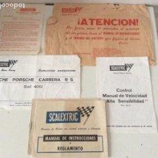 Scalextric: DOCUMENTACIÓN PORSCHE CARRERA R S REFERENCIA 4051. Lote 140309534