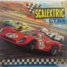 Scalextric: CAJA VACIA DE SCALEXTRIC GT.64 - Y LAS CAJAS INTERIORES, CON LAS ALAS DE LA TAPA ABIERTAS. Lote 143396354