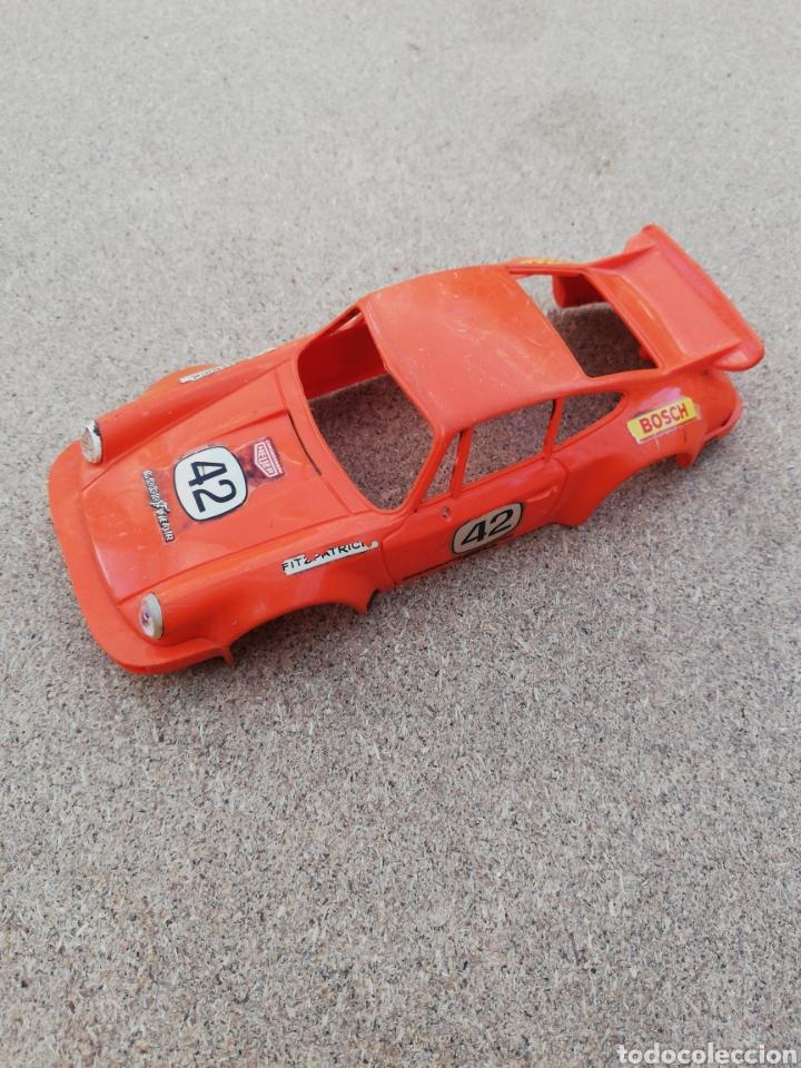 COCHE SCALEXTRIC CARROCERIA PORCHE NARANJA RS (Juguetes - Slot Cars - Scalextric Pistas y Accesorios)