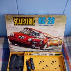 Scalextric: CIRCUITO RC-28 SCALEXTRIC EXIN, CON DOCUMENTACIÓN, SIN COCHES. Lote 141522086