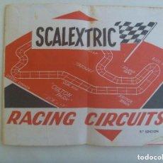 Scalextric: SCALEXTRIC : CATALOGO DE PISTAS Y CIRCUITOS , RACING CIRCUITS. 9 º EDICION.. Lote 143354154