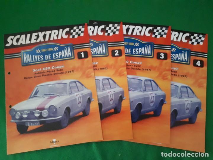 FASCICULOS 1 A 4 RALLYES DE ESPAÑA – SEAT 850 COUPE - ALTAYA (Juguetes - Slot Cars - Scalextric Pistas y Accesorios)
