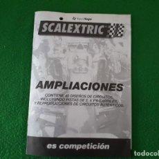 Scalextric: FOLLETO AMPLIACIONES CIRCUITOS DE SCALEXTRIC – TROQUELADO. Lote 145870166