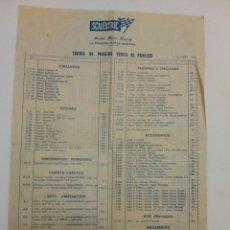 Scalextric: TARIFAS DE PRECIOS VENTA AL PÚBLICO 30 ABRIL 1970 SCALEXTRIC EXIN. Lote 147690430