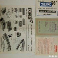 Scalextric: TARGETA INSPECCIÓN GP 22, CATÁLOGO ACCESORIOS 4ª EDICIÓN Y MÁS SCALEXTRIC EXIN. Lote 147691142