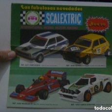 Scalextric: SCALEXTRIC - PUBLICIDAD DE NUEVOS MODELOS : FORD FIESTA, RENUALT - 5 , ETC... Lote 147746842