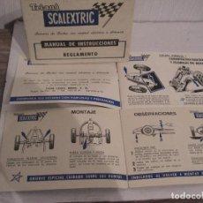 Scalextric: TRIANG SCALEXTRIC. MANUAL DE INSTRUCCIONES Y MANTENIMIENTO.. Lote 147846286